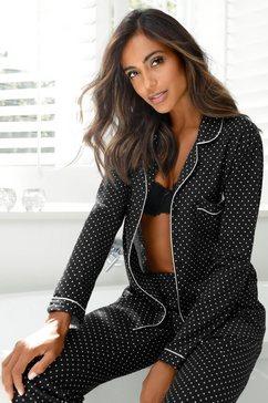 lascana pyjama in klassiek model zwart