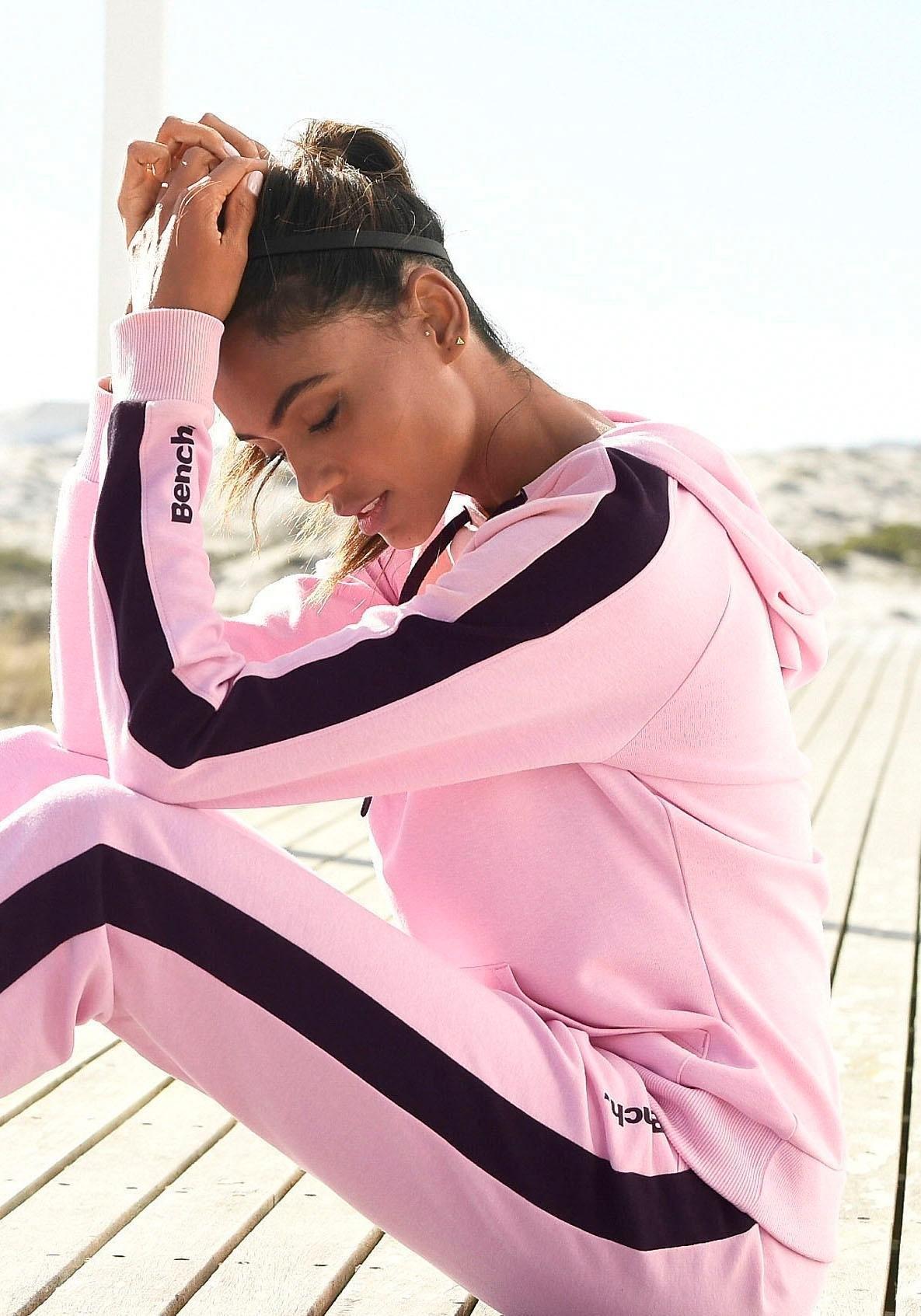 Bench. hoodie met strepen opzij en kangoeroezak voordelig en veilig online kopen