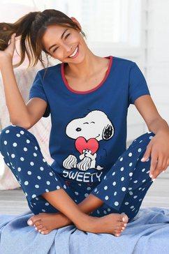 peanuts pyjama blauw