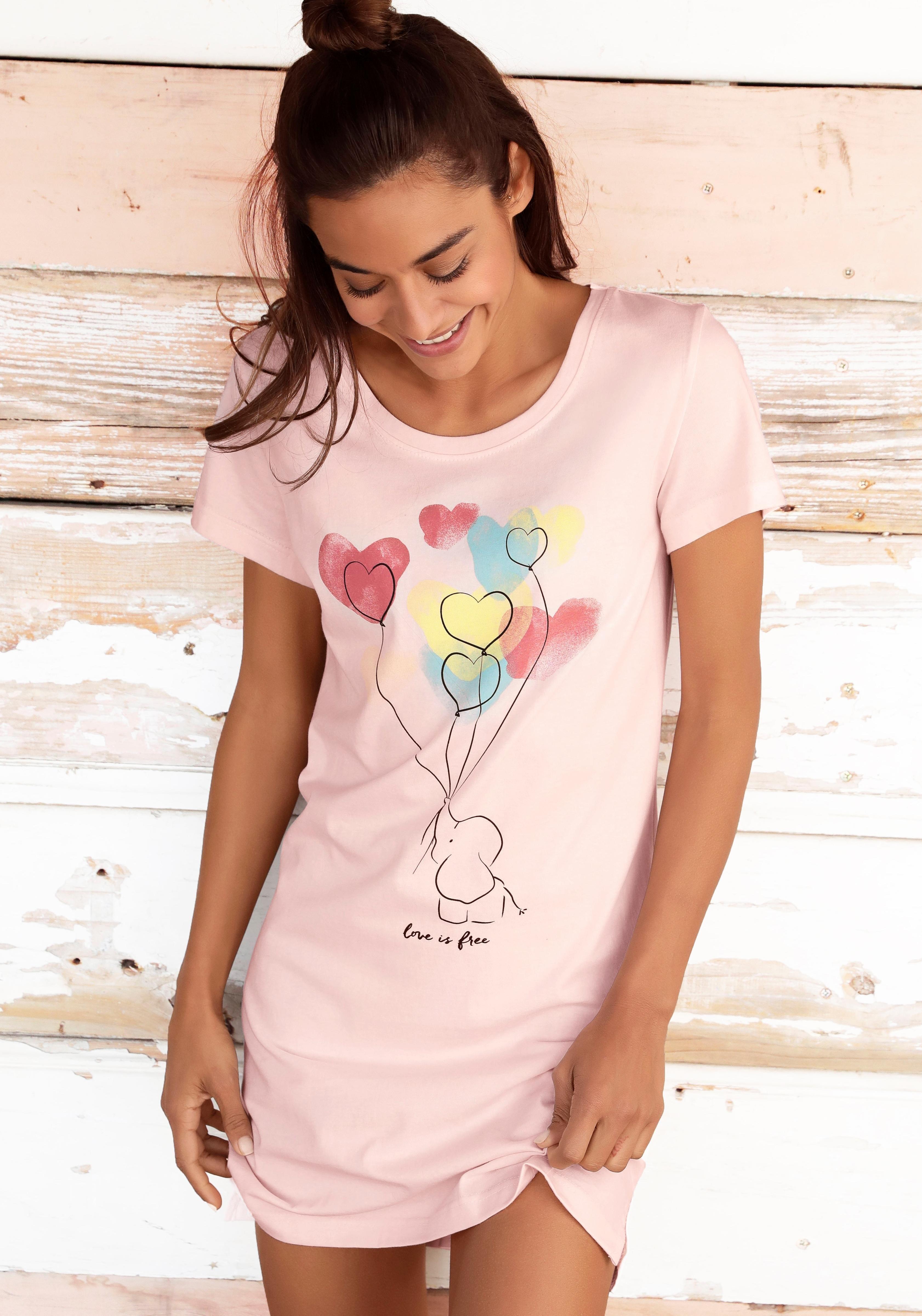 Vivance Collection Vivance Dreams nachthemd in de webshop van Lascana kopen