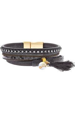 lascana armband met magneetsluiting zwart
