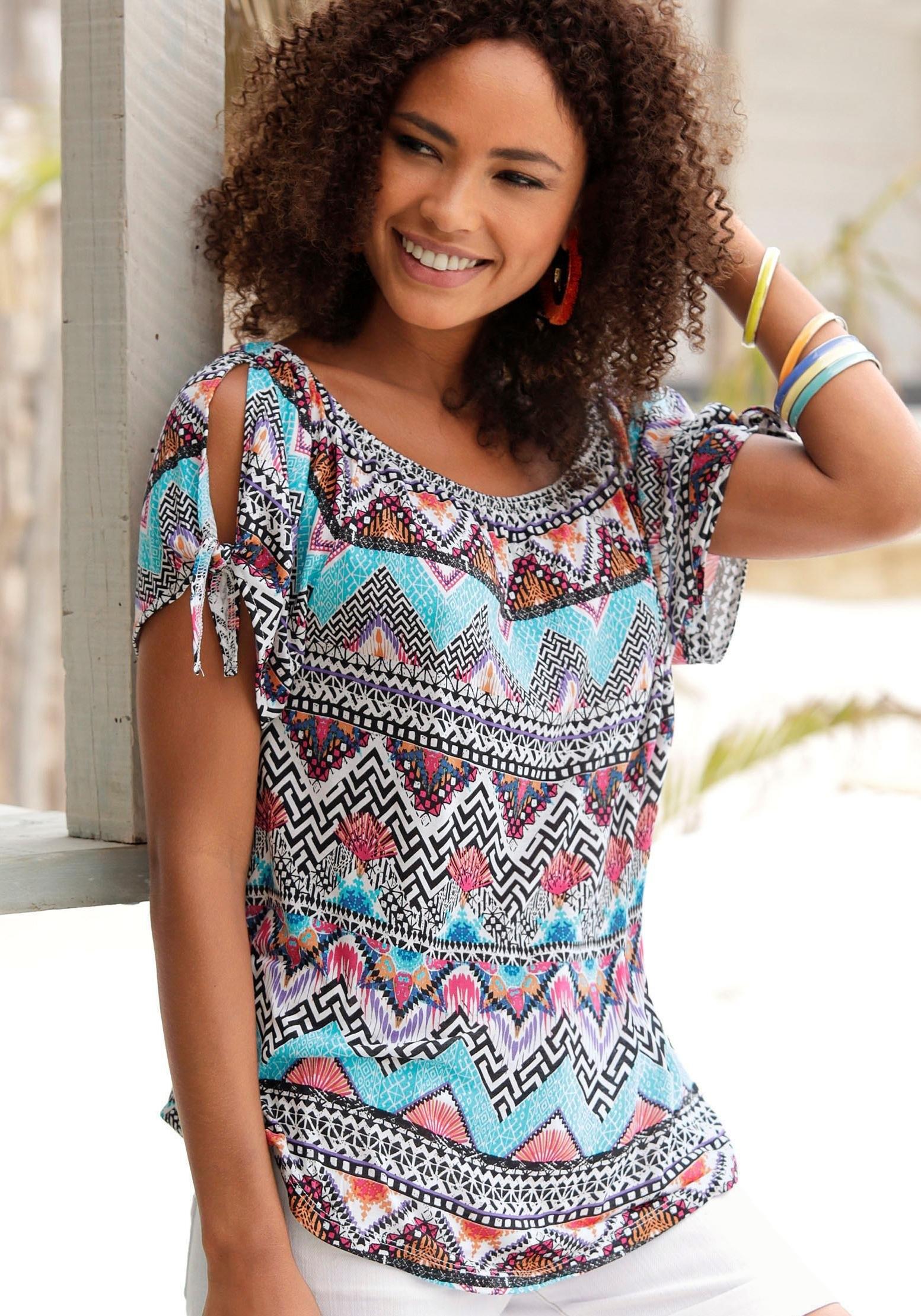 s.Oliver Beachwear shirt met ronde hals goedkoop op lascana.nl kopen