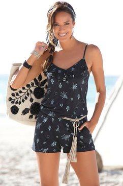 s.oliver beachwear jumpsuit blauw