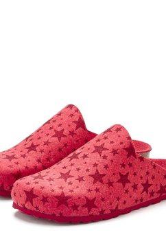 lascana pantoffels rood