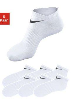 nike sneakersokken met middenvoetelastiek (6 paar) wit