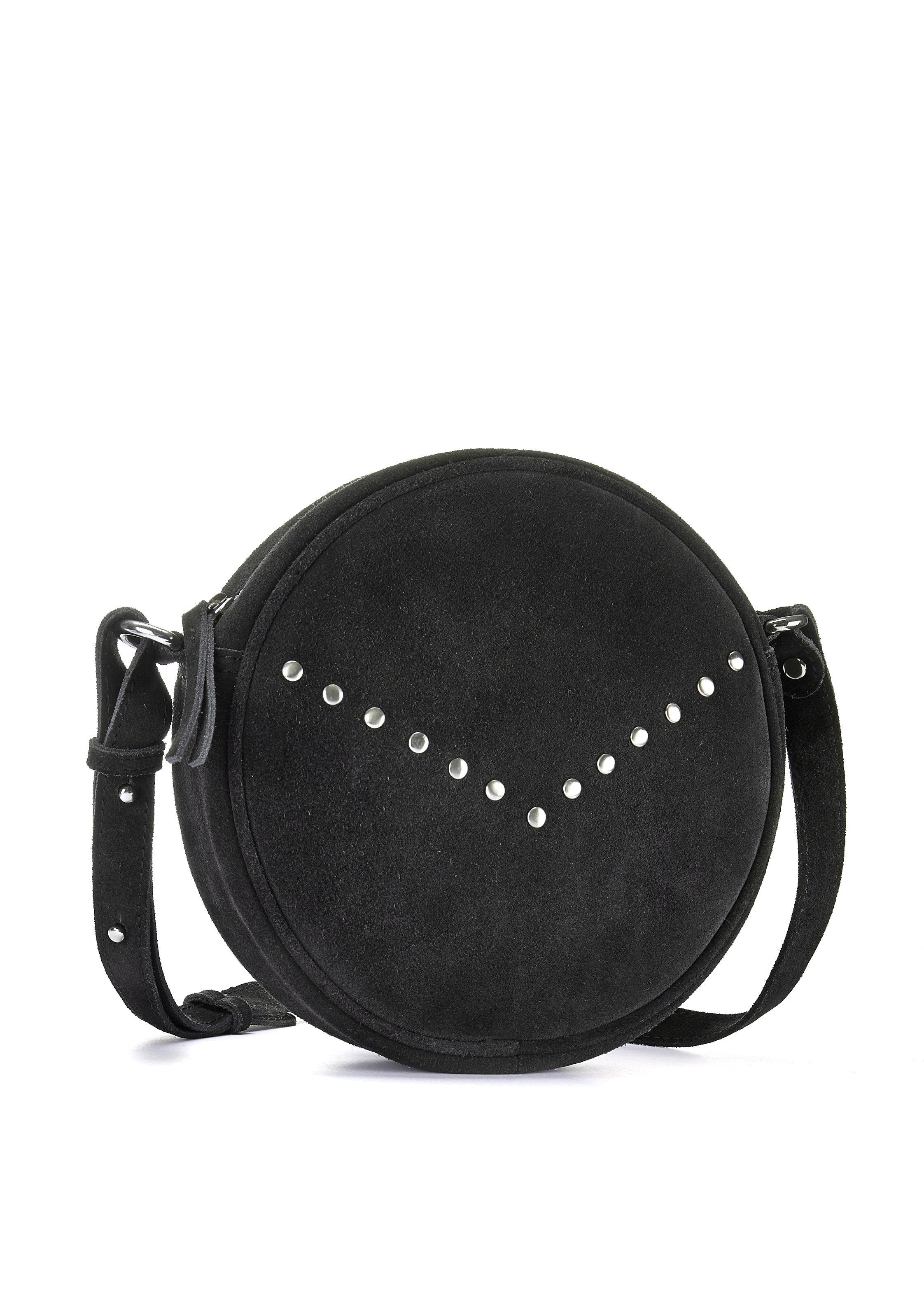Lascana Schoudertas van leer, ronde mini-bag met modieuze studs bij Lascana online kopen