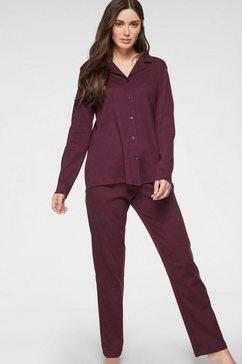 seidensticker pyjama lang met strepen rood