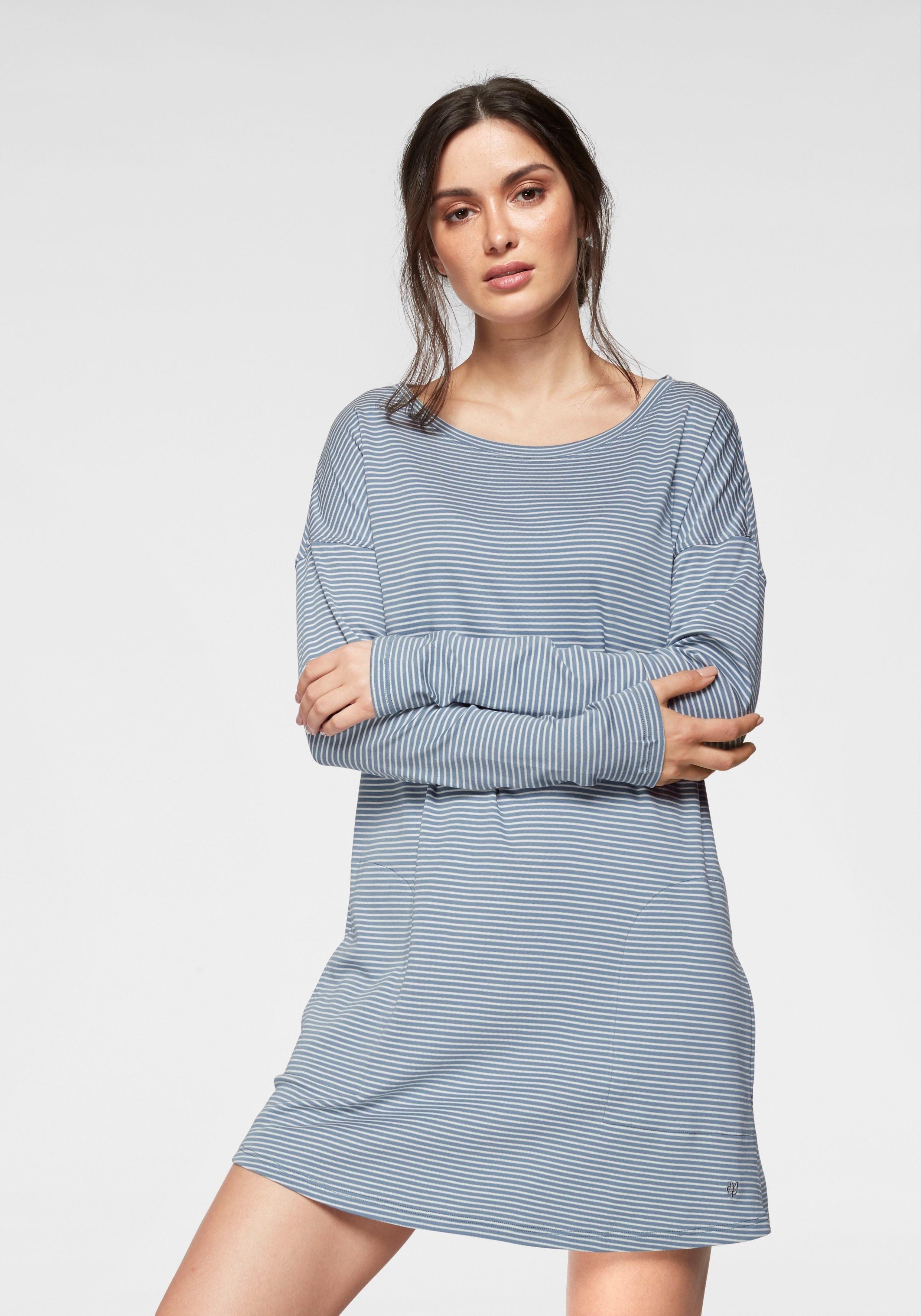 Marc O'Polo nachthemd met steekzakken en verlaagde schoudernaden bij Lascana online kopen