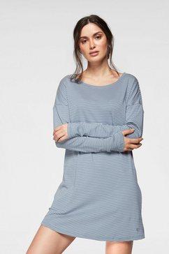 marc o'polo nachthemd met stippen in overhemdmodel blauw
