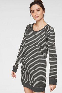 marc o'polo nachthemd met streepdessin met steekzakken grijs