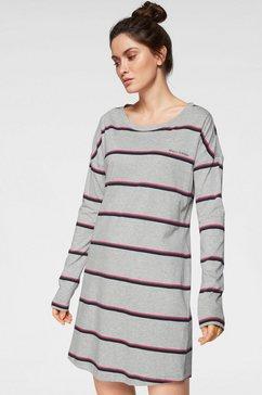 marc o'polo nachthemd met veelkleurige strepen grijs