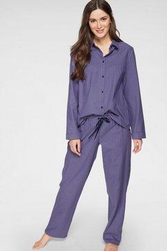 seidensticker pyjama lang met strepen paars