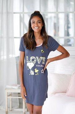 peanuts big-shirt met groot snoopy-motief grijs
