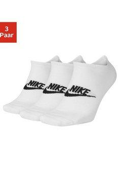 nike sneakersokken met logo op de middenvoet (3 paar) wit