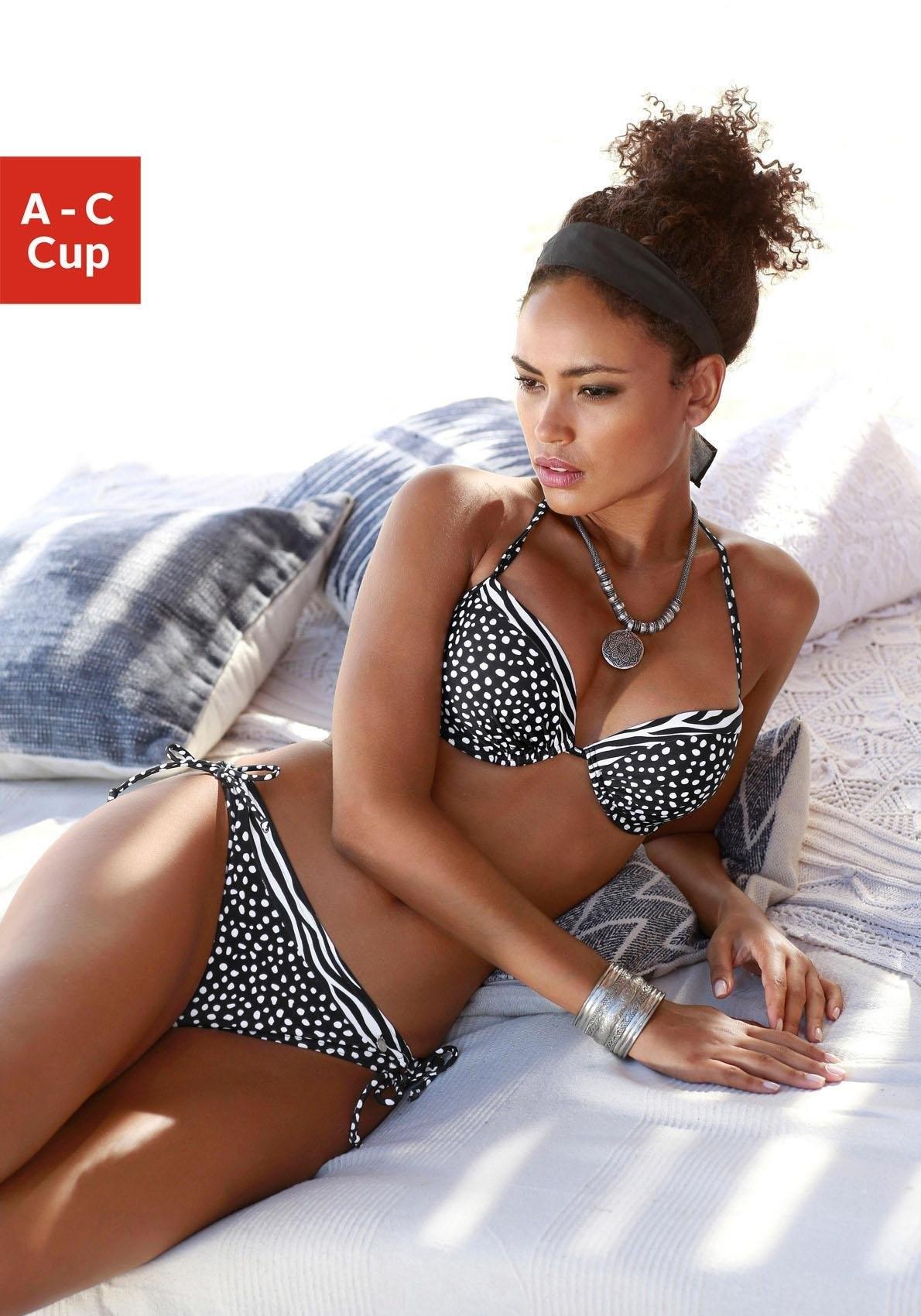 LASCANA push-up-bikinibovenstukje »Safari« veilig op lascana.nl kopen