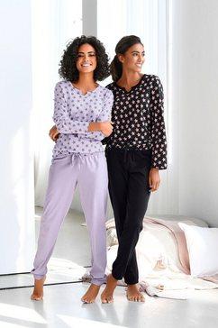 vivance dreams pyjama (set van 2, 4-delig) zwart