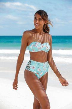 sunseeker highwaist-bikinibroekje blauw