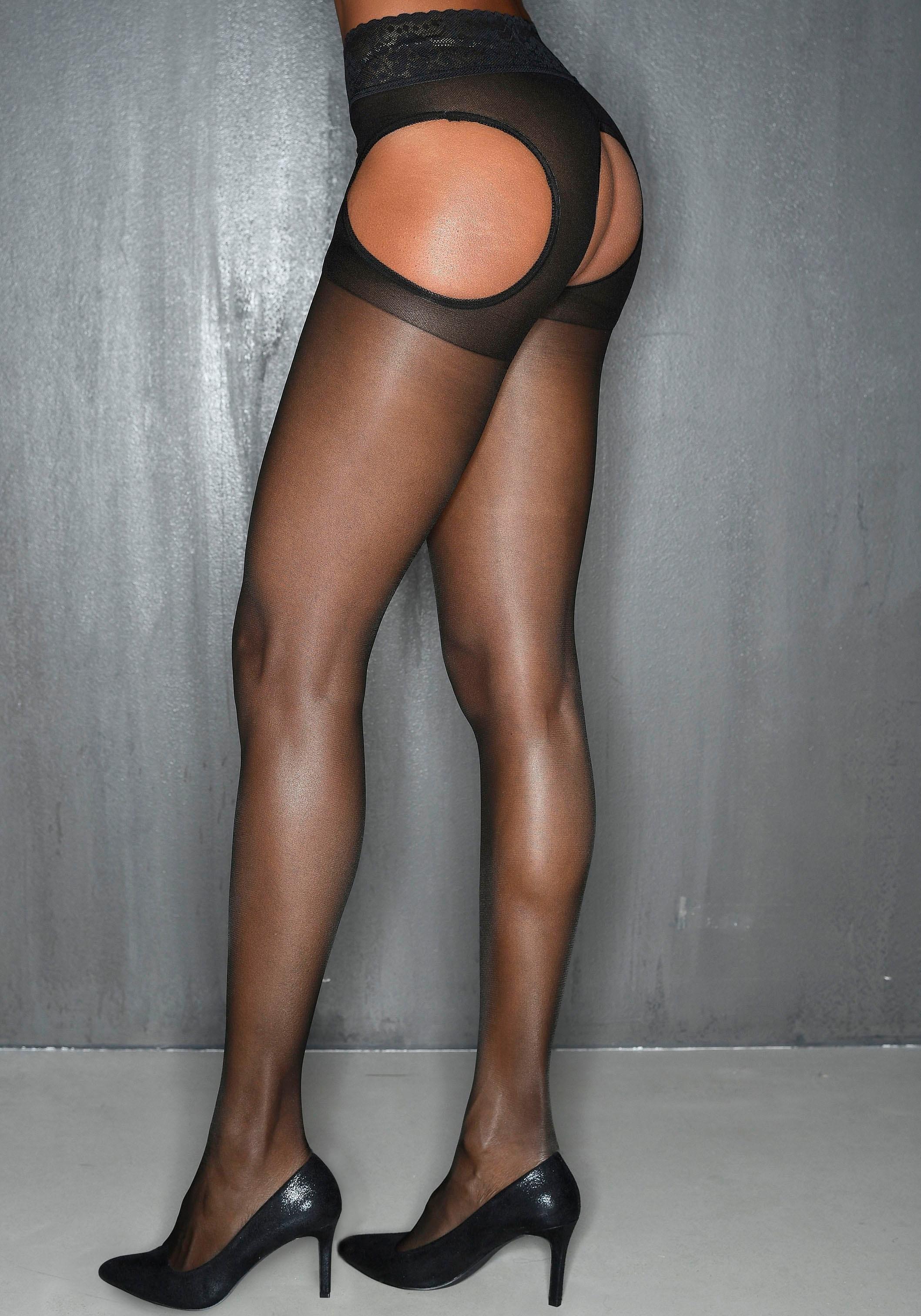 Petite fleur gold panty 15 DEN bij Lascana online kopen