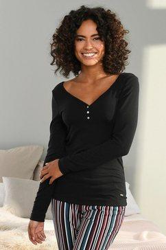 s.oliver bodywear shirt met lange mouwen zwart