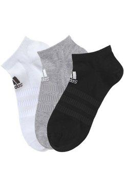 adidas performance sneakersokken performance met klassiek logo-opschrift (3 paar) zwart