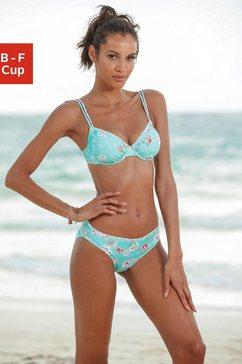 sunseeker bikinitop met beugels blauw