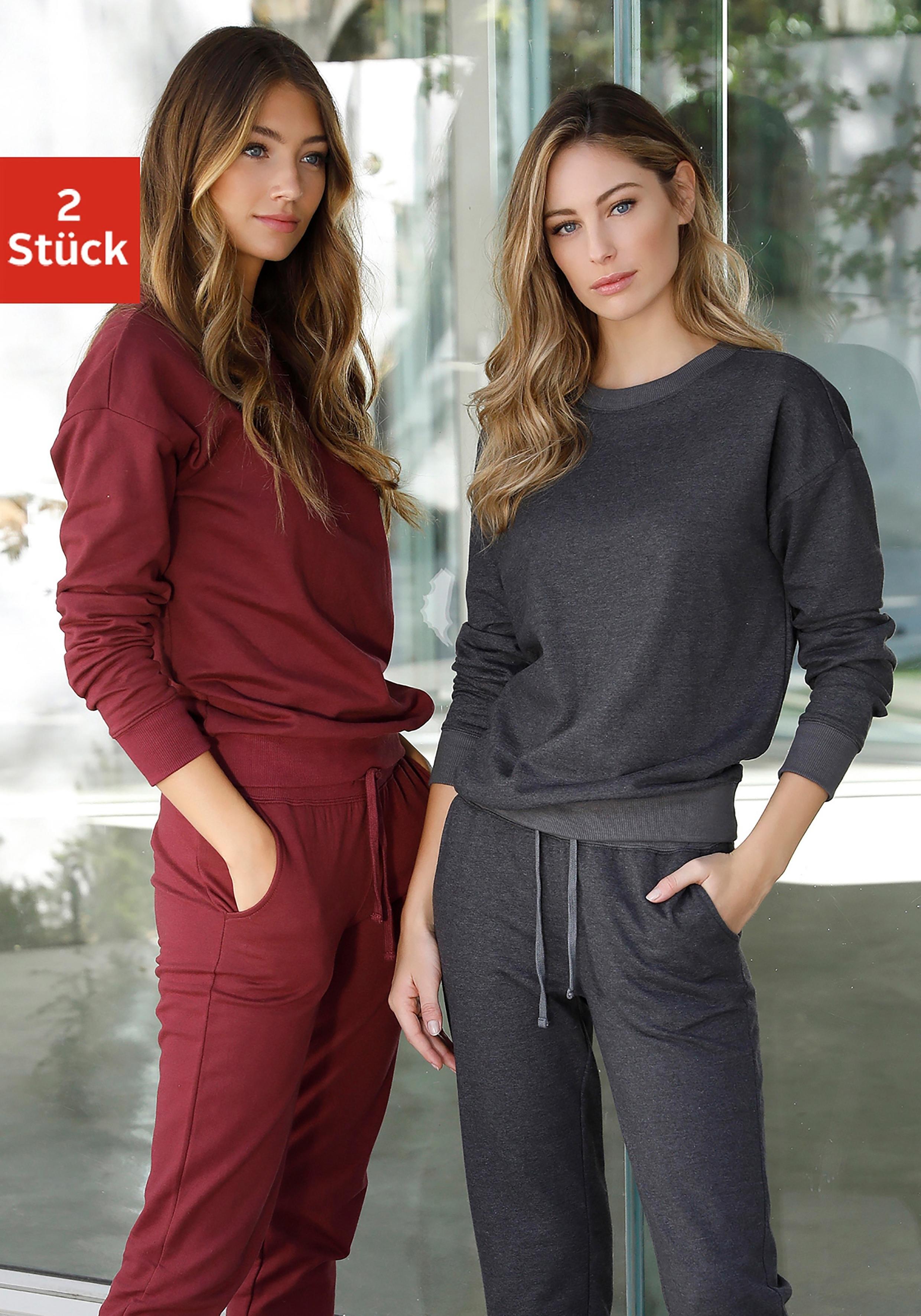 vivance active sweatshirt (set van 2) nu online kopen bij Lascana