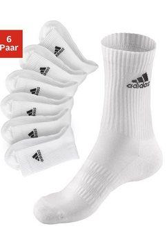 sportsokken, set van 6 paar, adidas wit