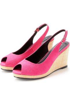 lascana sandaaltjes met sleehak roze