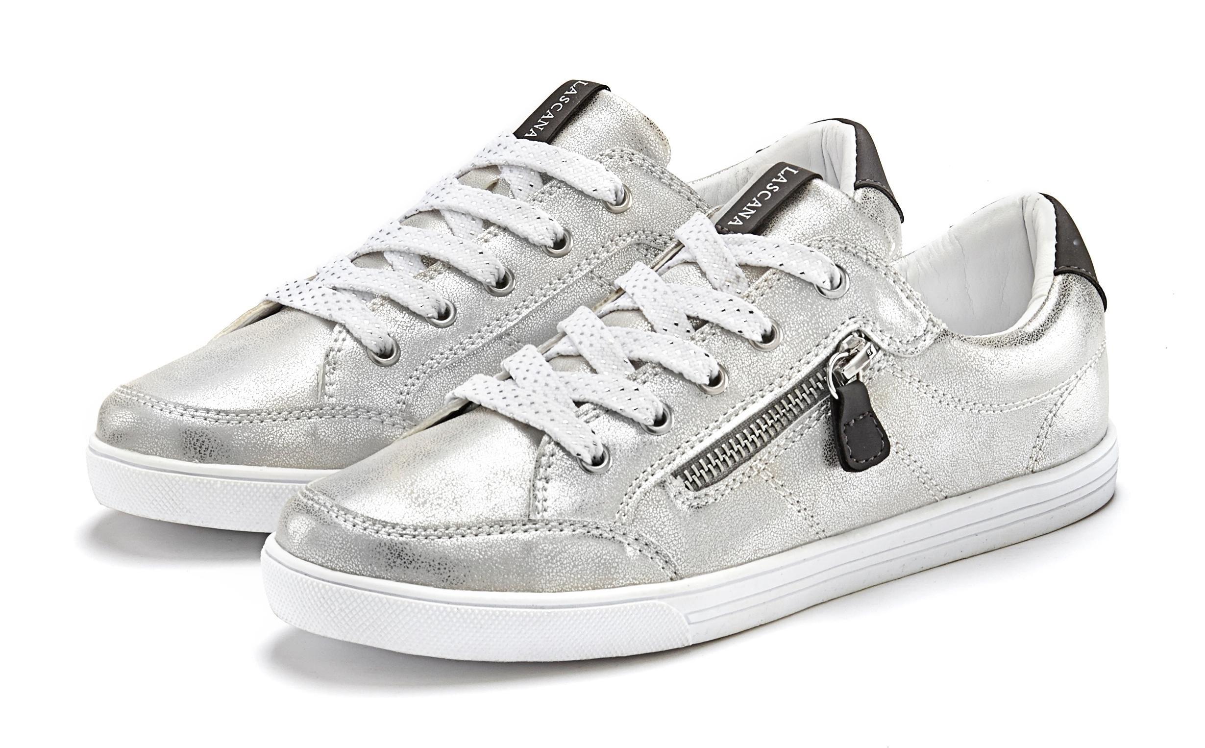 Lascana sneakers in metallic-look en sierrits opzij online kopen op lascana.nl