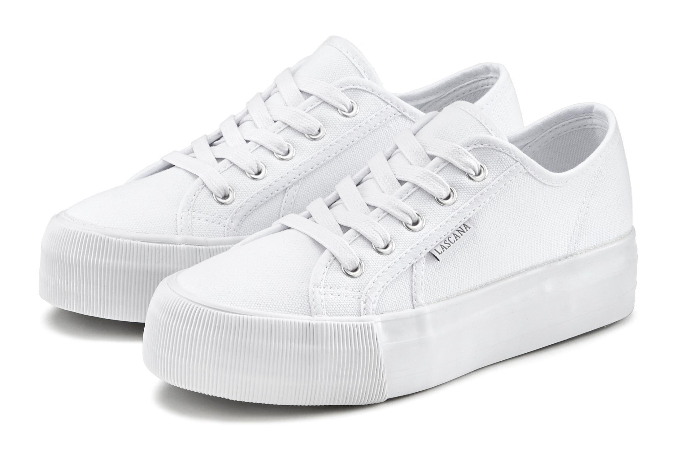 Lascana sneakers van textiel met plateauzool bij Lascana online kopen