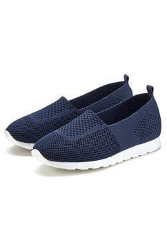 lascana slip-on sneakers blauw