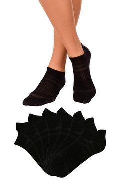 active by lascana sneakersokken in piqué-look (7 paar) zwart
