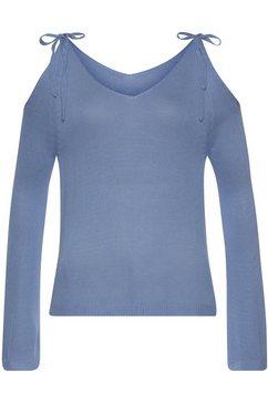 lascana gebreide trui blauw