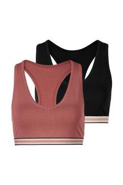 s.oliver red label bodywear meisjesbustier (set van 3) in ton-sur-tonkleuren roze
