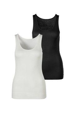 s.oliver red label beachwear tanktop bijzonder zachte ribkwaliteit (set van 2) wit