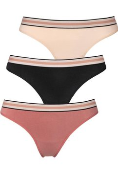 s.oliver red label bodywear string (set van 3) met kanten band roze