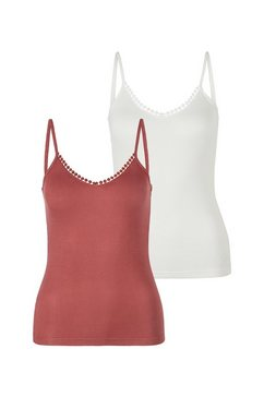 s.oliver bodywear top met spaghettibandjes roze
