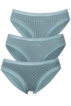 lascana bikinibroekje met grafische kant (3 stuks) blauw