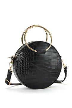 lascana schoudertas ronde tas in reptiel-look zwart
