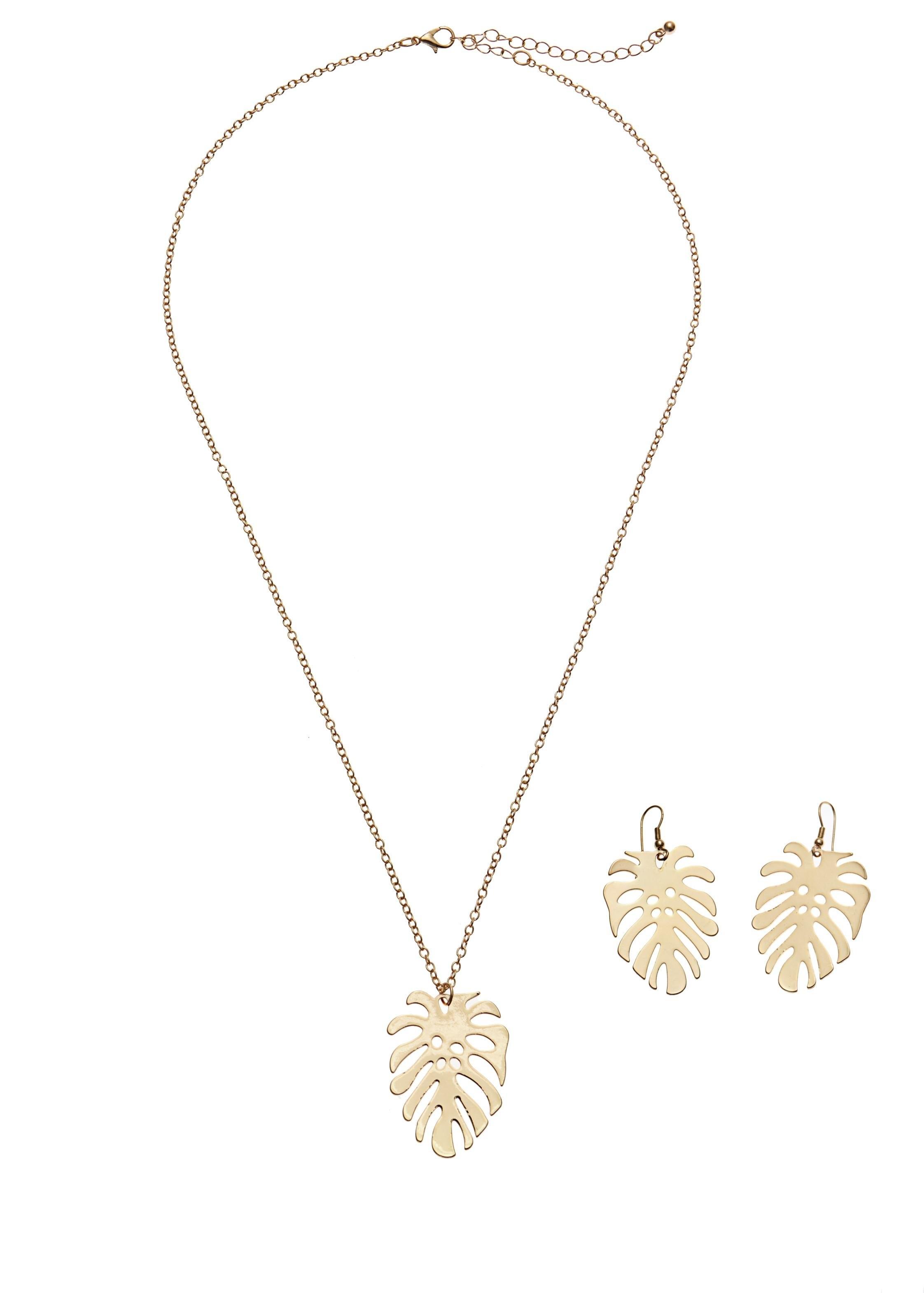 Lascana sieradenset Ketting en oorringen met palmblad nu online kopen bij Lascana