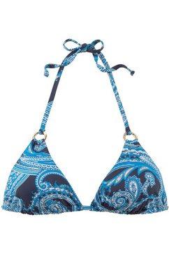 lascana triangel-bikinitop »boho« blauw
