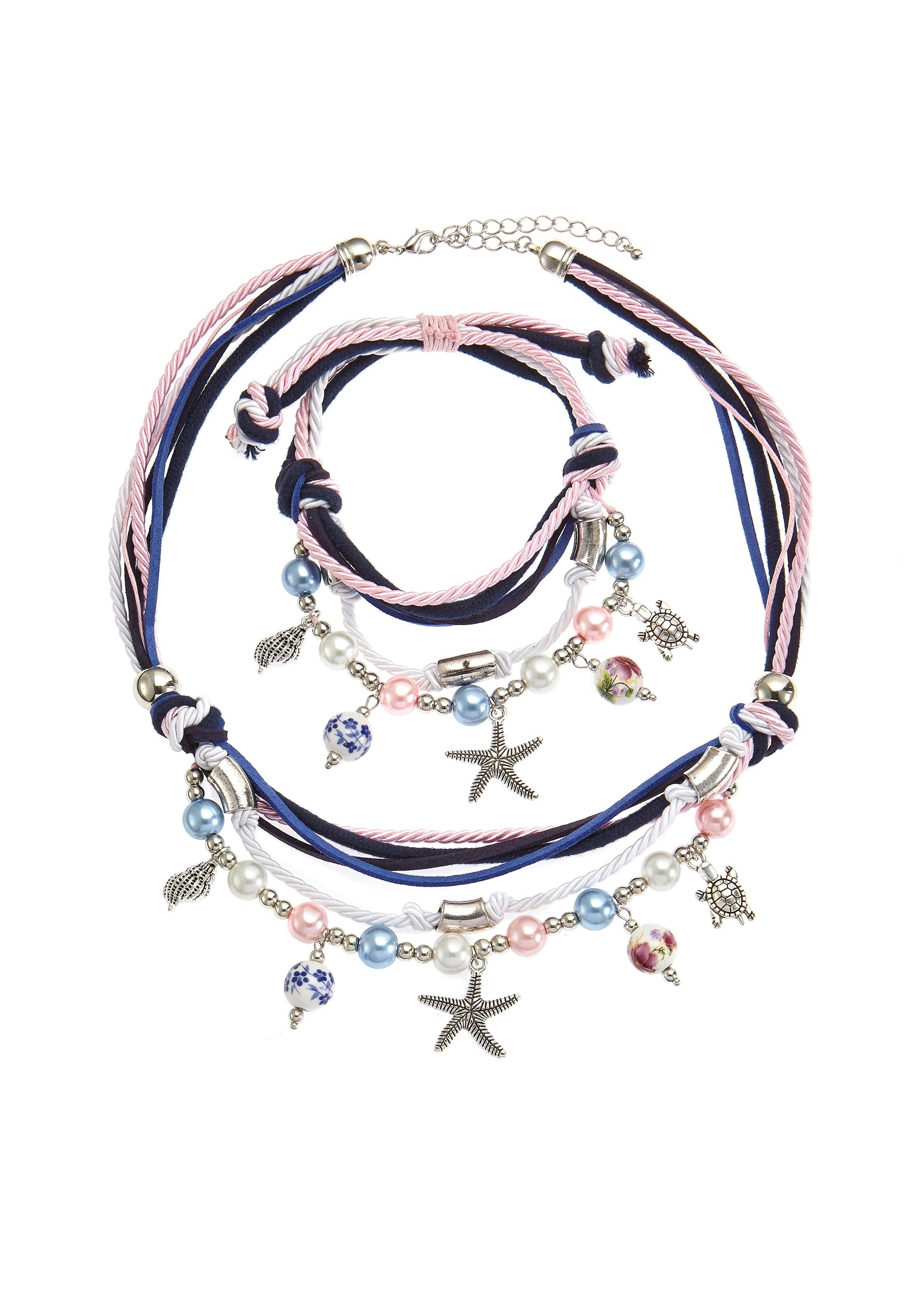 Lascana Sieradenset Ketting en armband met heel veel hangertjes online kopen op lascana.nl