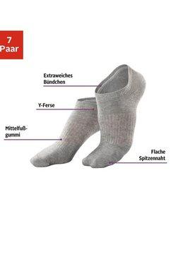 active by lascana sneakersokken met middenvoetelastiek (7 paar) zwart