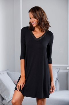 lascana nachthemd zwart