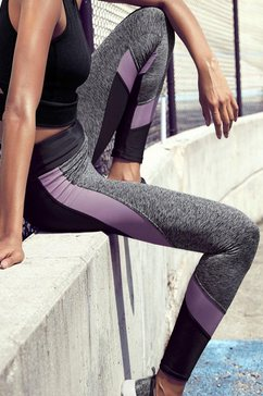 lascana active functionele legging »digital mauve« grijs