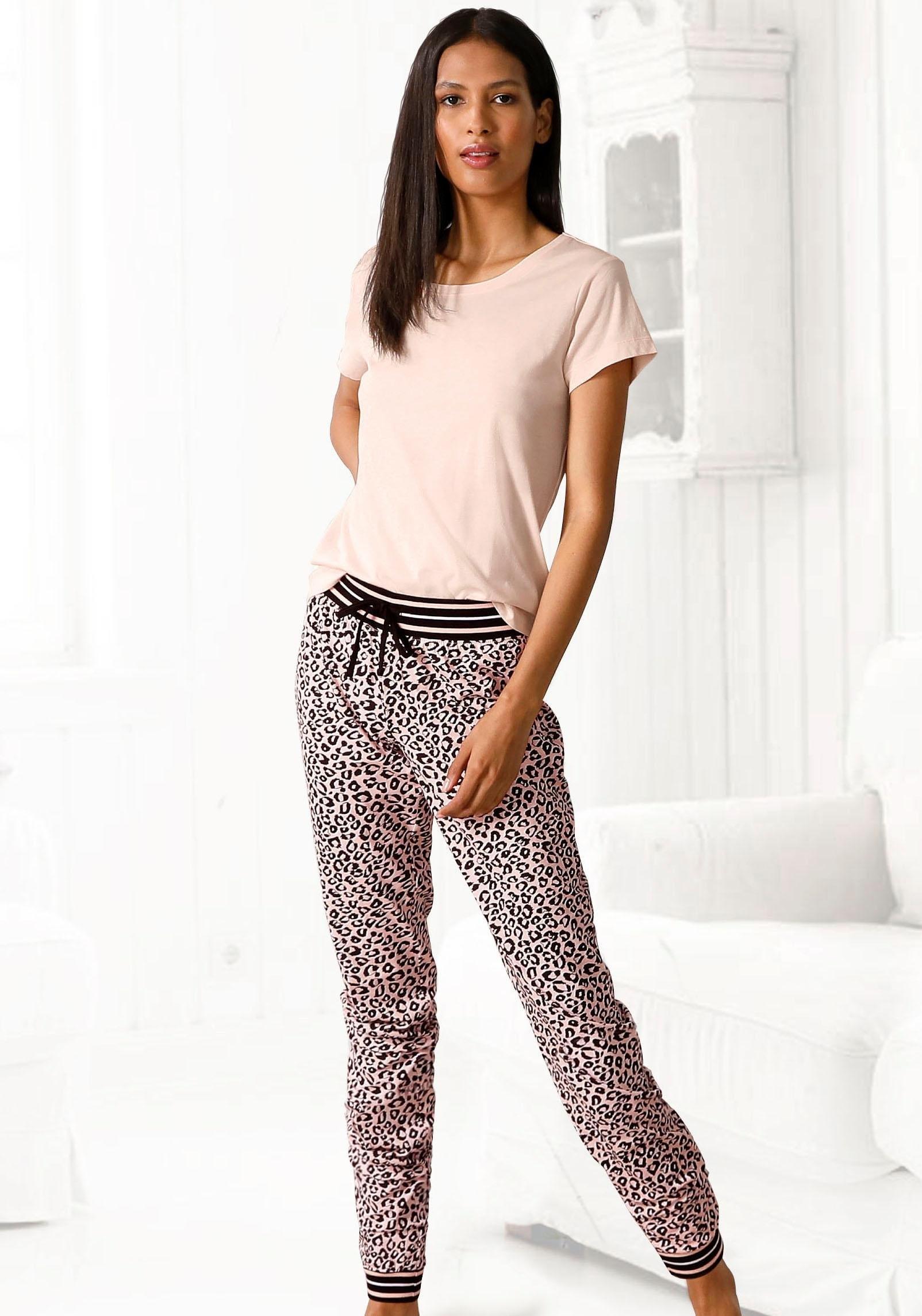 s.Oliver RED LABEL Beachwear pyjama met luipaardprint bestellen: 30 dagen bedenktijd