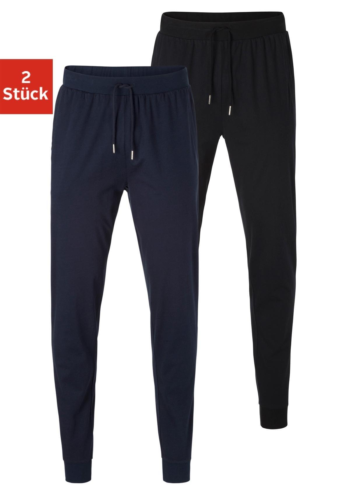 AUTHENTIC UNDERWEAR pyjamabroek van zacht single-jerseymateriaal (Set van 2) online kopen op lascana.nl