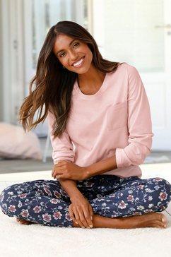 vivance dreams pyjama met gedessineerde pyjamabroek roze