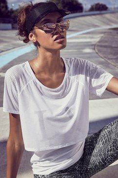 lascana active 2-in-1-shirt »digital mauve« wit
