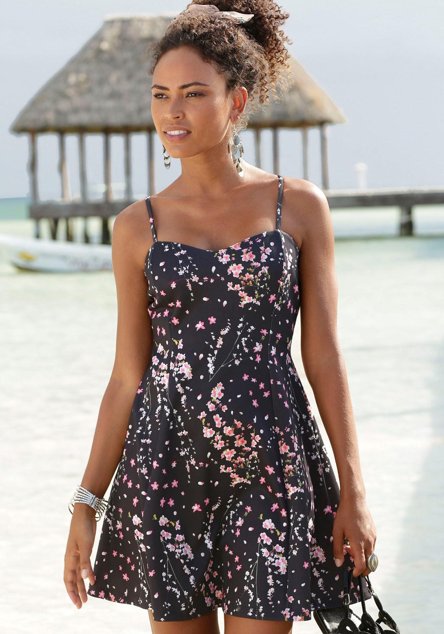 Lascana scuba-jurk met hartvormige hals voordelig en veilig online kopen